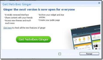 giniger 3 Ouverture public de Netvibes Ginger !